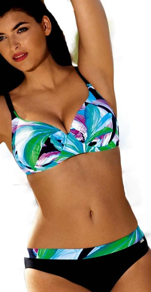 Dvojdielne kvetované plavky s veľkými košíčkami