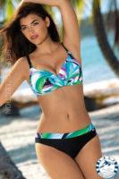 Dvojdielne plavky pre plnoštíhle Self s kosticami a nastaviteľnými ramienkami