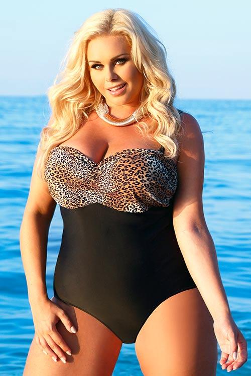 Jednodielne plavky Helen s tvarovanými košíčkami pre väčšie prsia