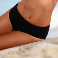 Maxi plavkové nohavičky - efekt plochého bruška