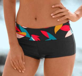 Boxerkové dámske plavky s nastaviteľnou výškou pásu