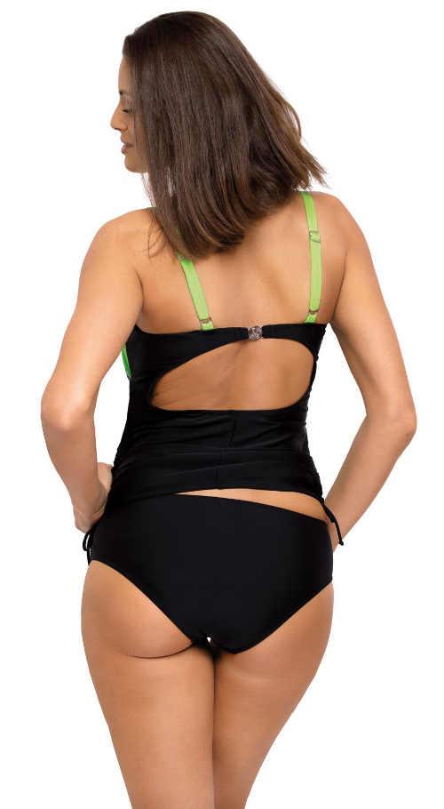 Čierne dámske tankiny s vykrojeným chrbtom