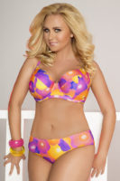 Dámske pastelové dvojdielne plavky FunB15 pre väčšie poprsie