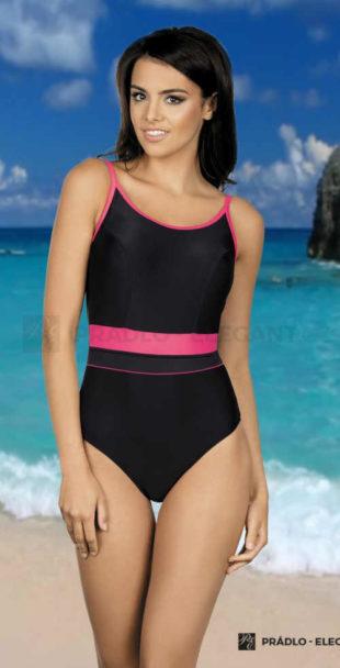 Jednodielne športové plavky v rafinovanom strihu a farebnej kombinácii
