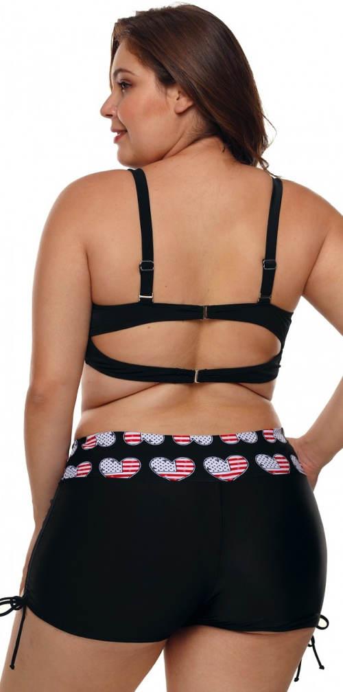 Nohavičkové dvojdielne plavky s reguláciou výšky nohavičiek