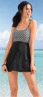 Plavkové šaty Bonprix s integrovanými nohavičkami