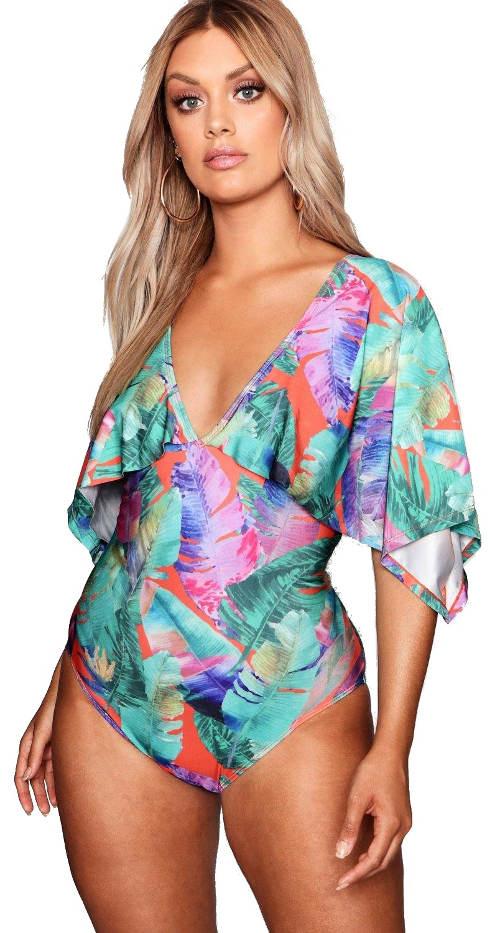 Jednodielne plavky s kimono rukávmi