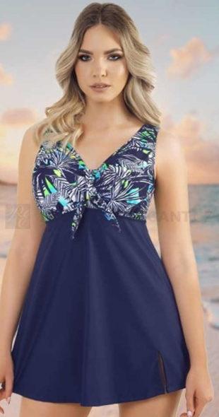 Jednodielne plavky s voľnou sukňou