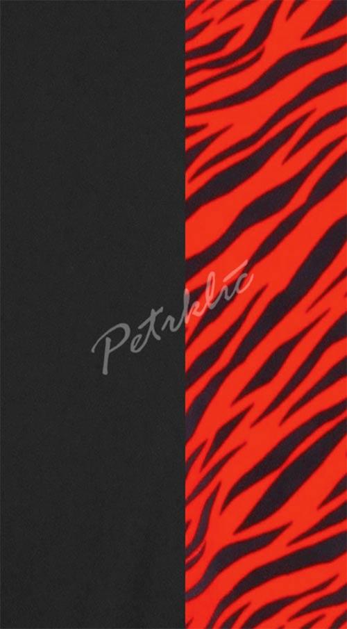Červeno-čierne dámske jednodielne plavky