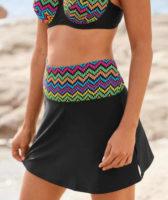 Čierna dámska plavková sukňa s integrovanými nohavičkami