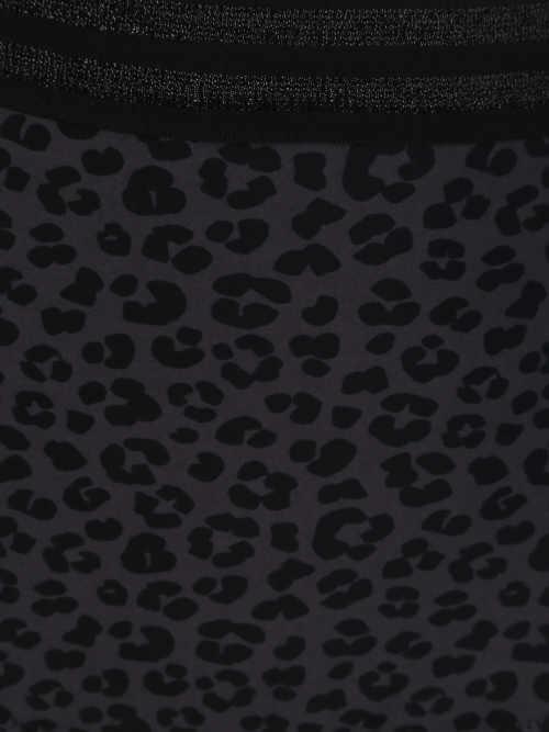 Dámske tmavé plavky so vzorom zvieracej kože