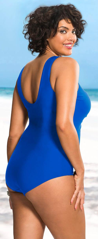 Modré jednodielne plavky pre moletky