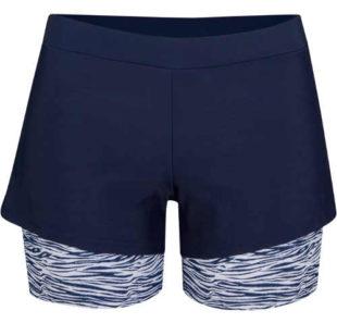 Dámske plavecké šortky s krátkymi legínami