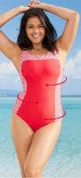 Lacné zoštíhľujúce dámske jednodielne plavky Bonprix