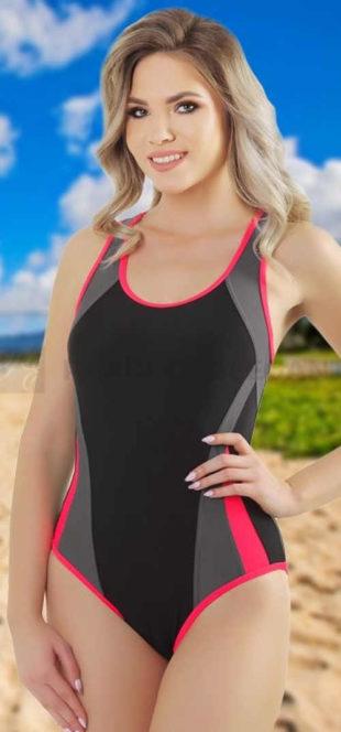 Športové jednodielne plavky pre plnoštíhle Zara