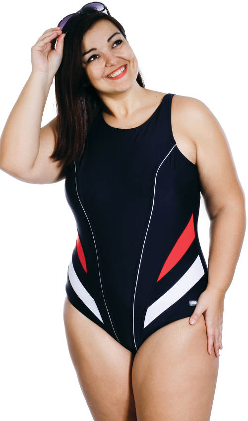 Športové plavky pre bacuľaté dievčatá