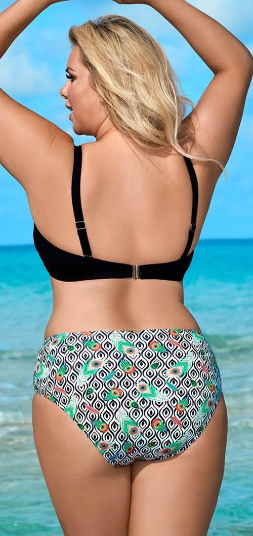 Dvojdielne plavky pre bacuľaté dievčatá s vystuženou podprsenkou bardotka
