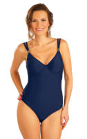Modré jednodielne plavky s kosticami