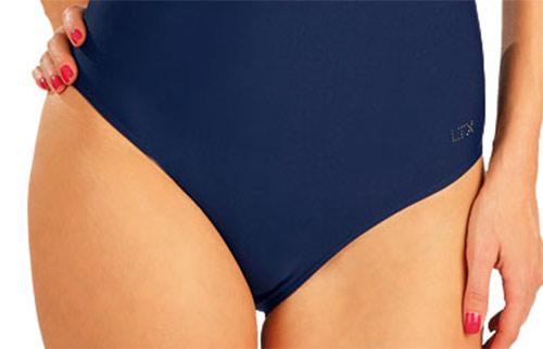Modré jednodielne plavky s kosticami 3